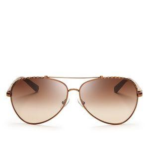 Tory Burch Signature Aviator Sunglasses, 62mm